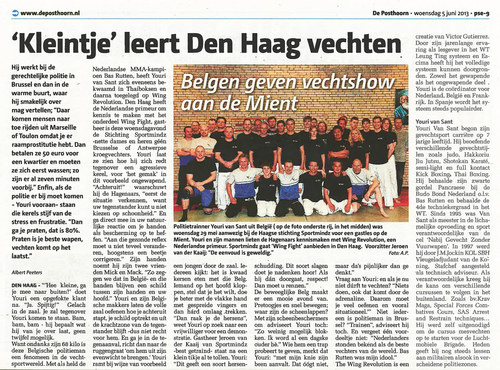Krantenartikel in De Posthoorn van woensdag 5 juni 2013